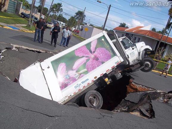 Camion al agujero