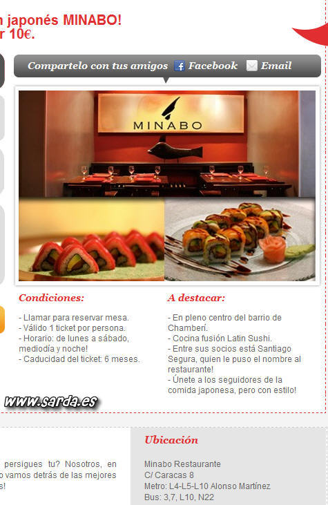 Anuncio Restaurante Minabo
