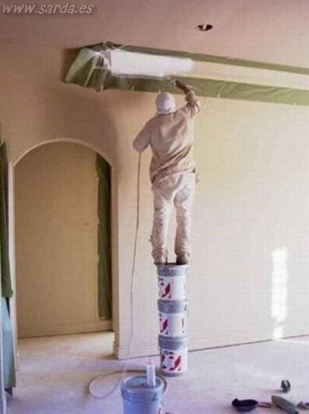 imagen seguridad laboral pintor