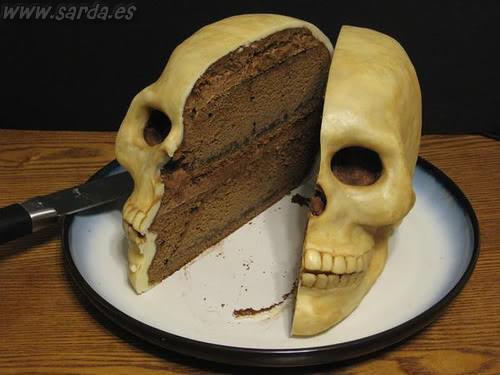 siniestra tarta craneo