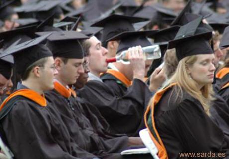 la graduacion...