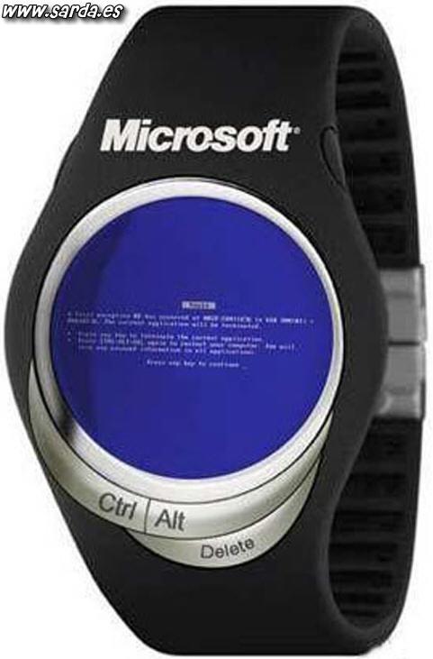 El reloj de windows (microsoft)