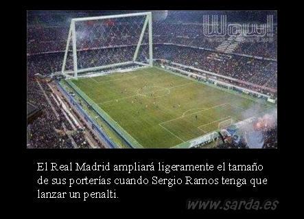 el penalti de Segio Ramos del Madrid