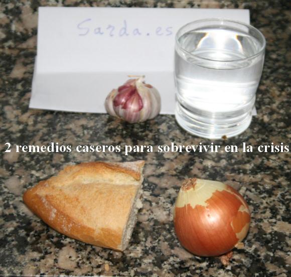 Ajo y agua, pan y cebolla...
