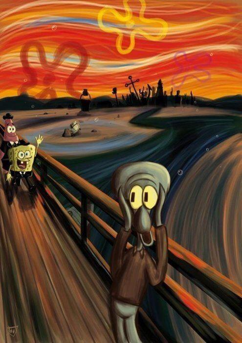 foto original cuadro El grito