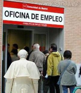 El Papa en en la Oficina de Empleo