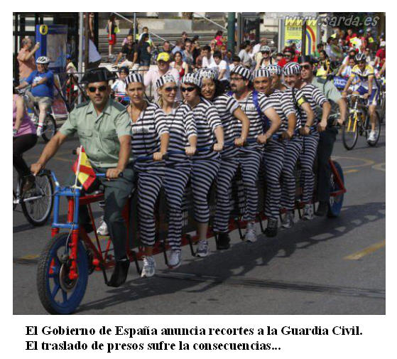 Recortes presupuestos Guardia Civil
