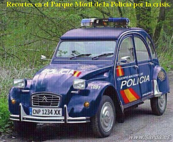 Vehiculos policia y recortes crisis