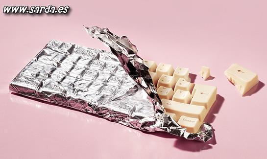 teclados de chocolate