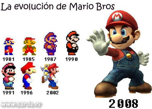 La evolucion de Mario Bros