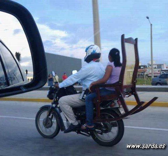 Comodidad en moto